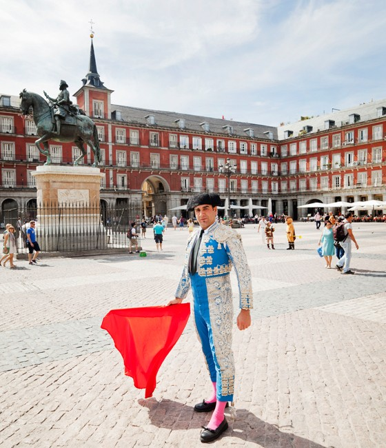Madrid Torero auf der Plaza Mayor