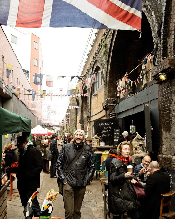 London Adam auf dem Maltby Market