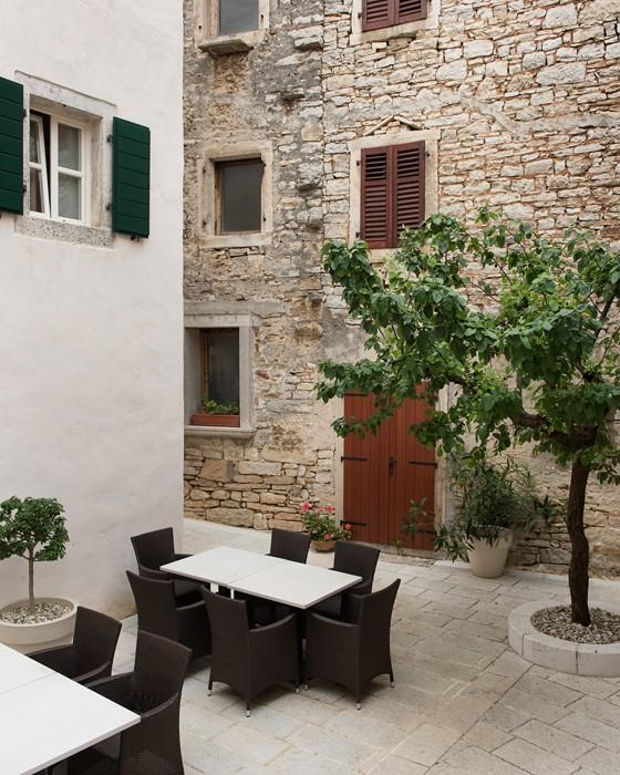 Innenhof-Altstadthotel-La Grisa-Istrien