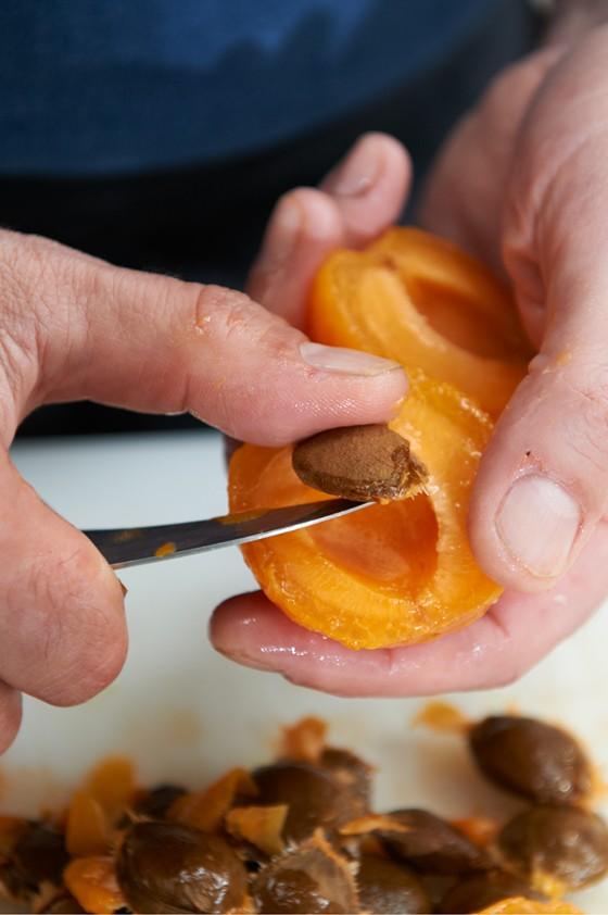 Aprikosen-entsteinen-Aprikosen-Einmachen