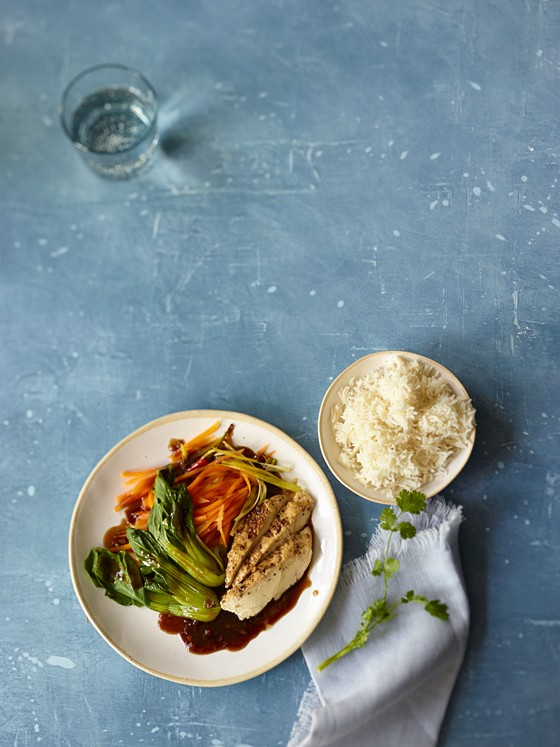 Asiatisches-Hähnchen-mit-Reis-Dampfgaren