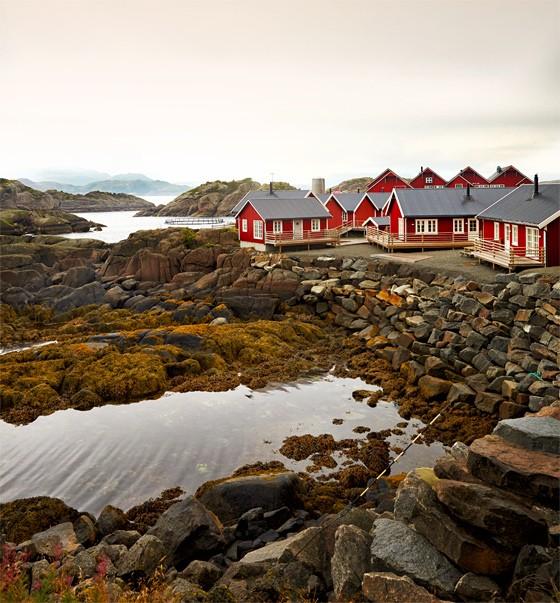 Norwegen-Lofoten-Unterkunft-Fischerhütten-in-Rorbu