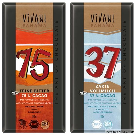 Schokolade mit Kokosblütennektar von Vivani