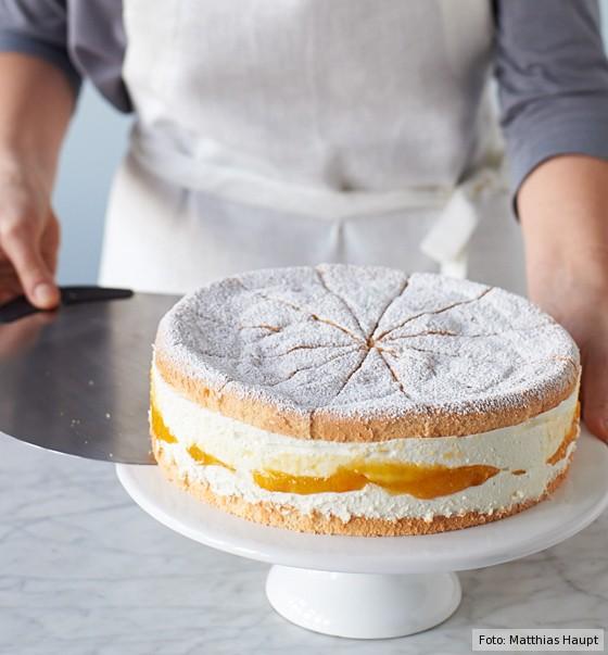 Käse-Sahne-Torte, Tortenplatte