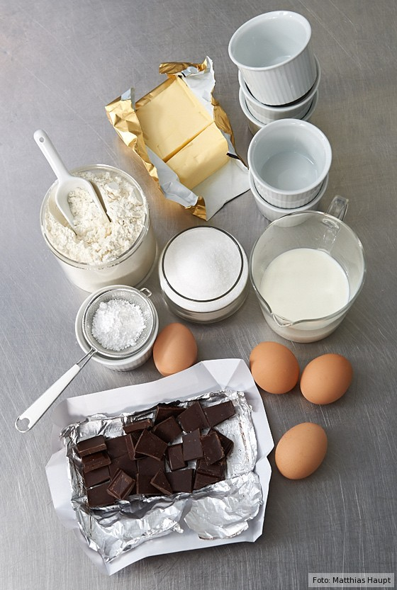Grundzutaten Schokoladen-Soufflé