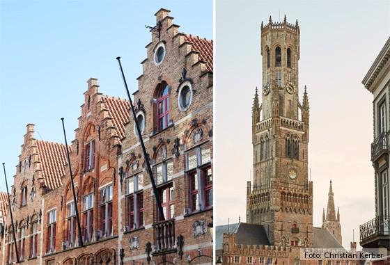 Brügge, Zunfthäuser und Glockenturm, Belfried Markt