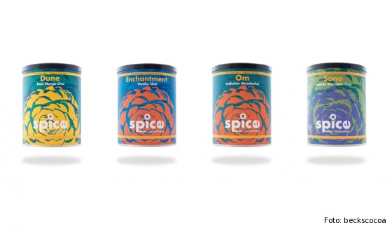 Verschiedene Sorten der spice Chai-Spezialitäten von beckscocoa