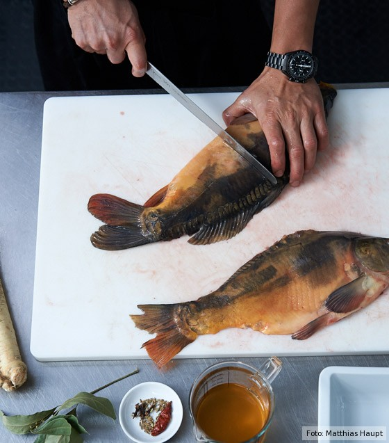 Fischhälften halbieren
