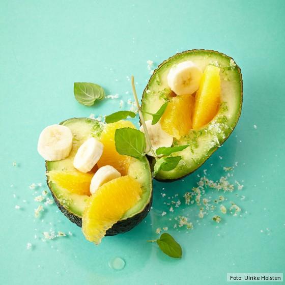 Avocado mit Orangen