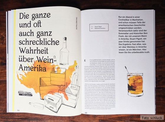 Provokant, aber fundiert: schluck hebt sich stilistisch deutlich von anderen Weinmagazinen ab.