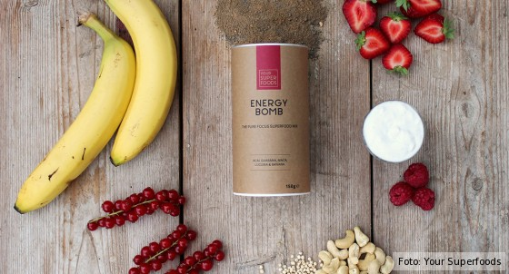 Zutaten des Energy Bomb-Mixes von Your Superfoods