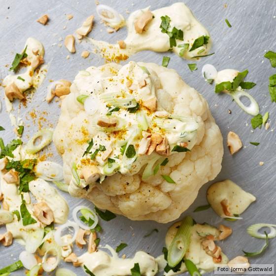 Blumenkohl mit Curryjoghurt