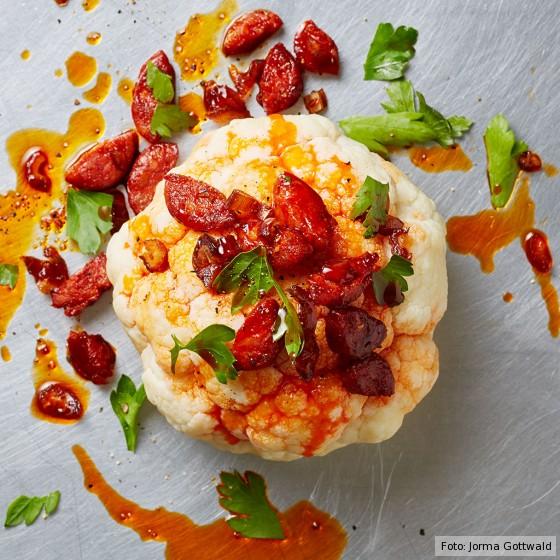 Blumenkohl mit Chorizo-Pfanne