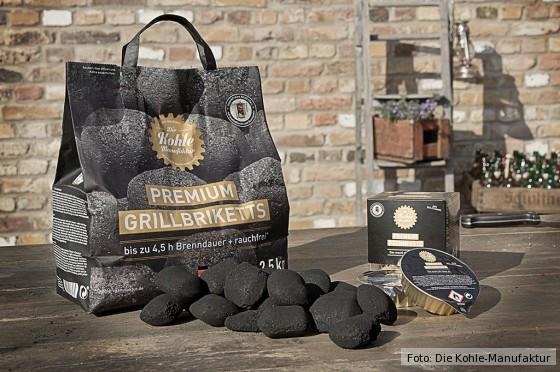 Premium Grillbriketts und Premium Brennpaste von der Kohle-Manufaktur