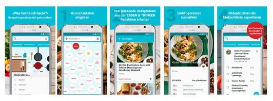 Bilder zur Android essen & trinke App