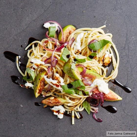 Spaghetti mit Feigen