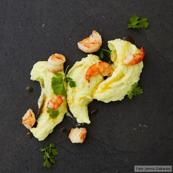 Kartoffelpüree mit Wasabi