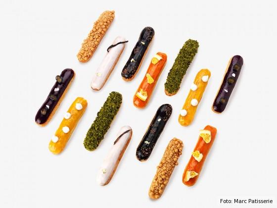 Fast zu schön zum Essen: Éclairs-Kunst in der Marc Patisserie